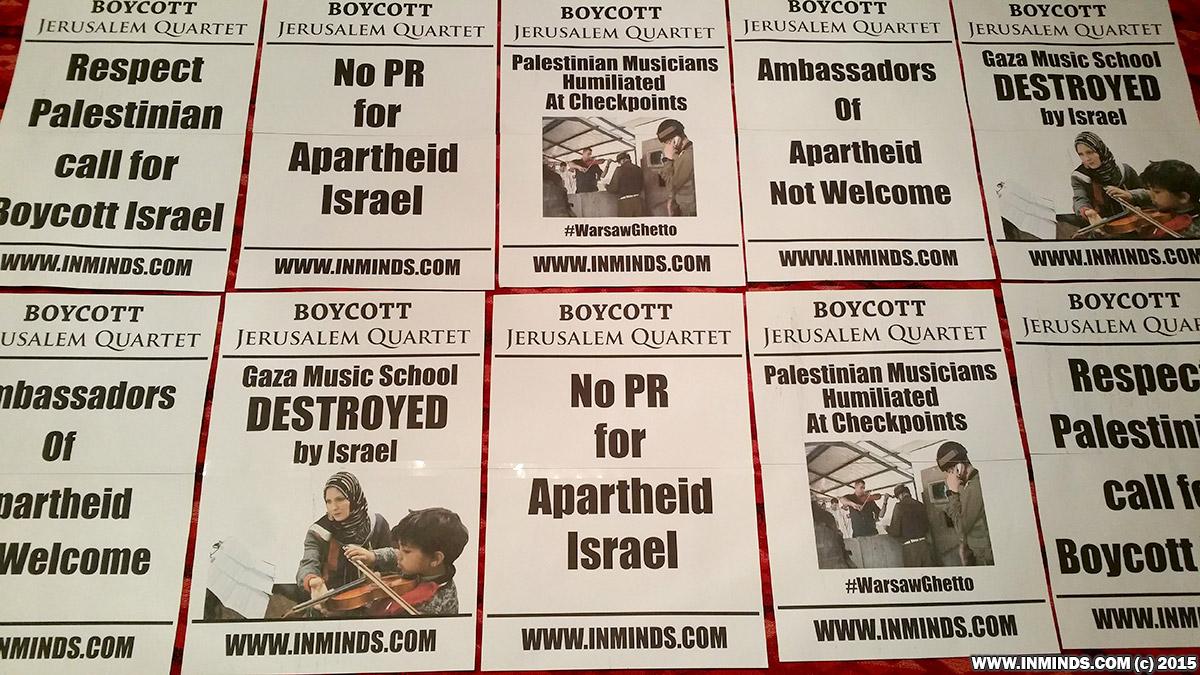 Boycott Israel News Jerusalem Quartet Protest Resources